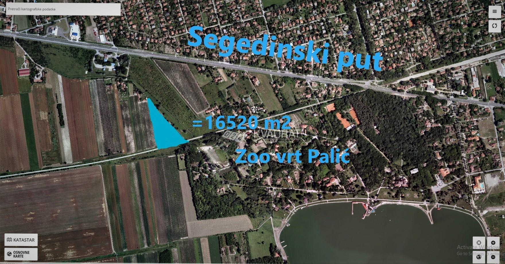Palić – gradsko građevinsko zemljište u turističkoj zoni!